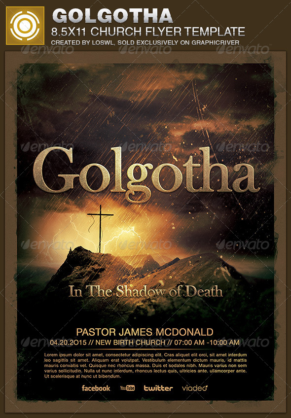 Golgotha Church Flyer Template - Church Flyers
