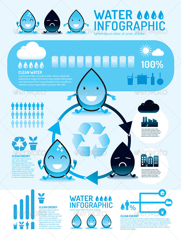 Infographic Vector Water Reverse Osmosis - Infographics