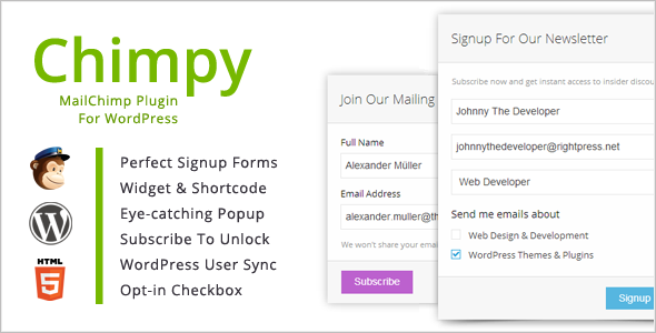 Download Chimpy - MailChimp WordPress Plugin nulled version