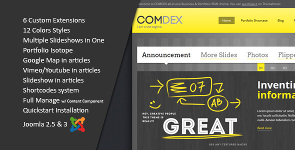 ComDex :: Clean and Modern Joomla Template