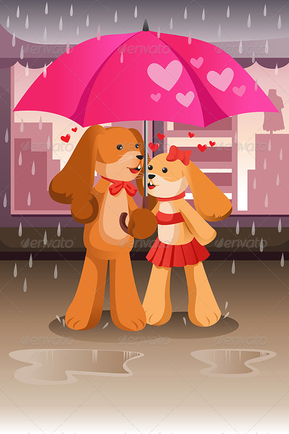 Dogs in Love - Animals Characters