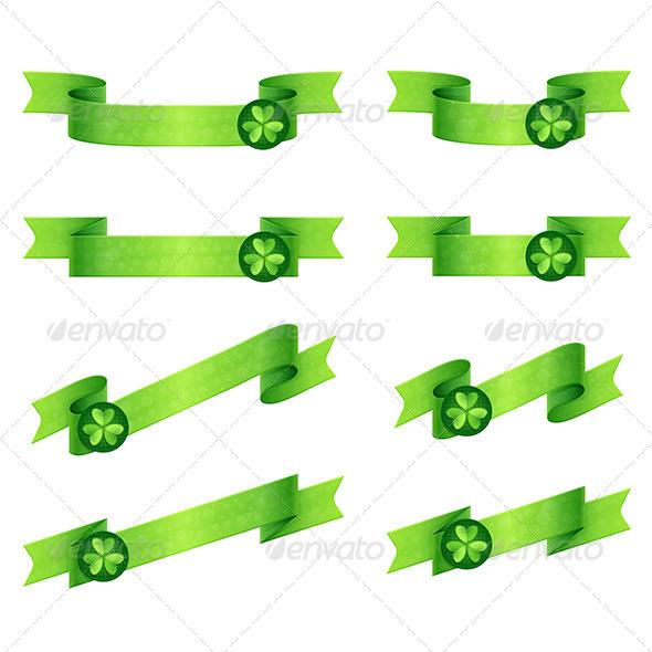 Ribbons Shamrock - Decorative Vectors