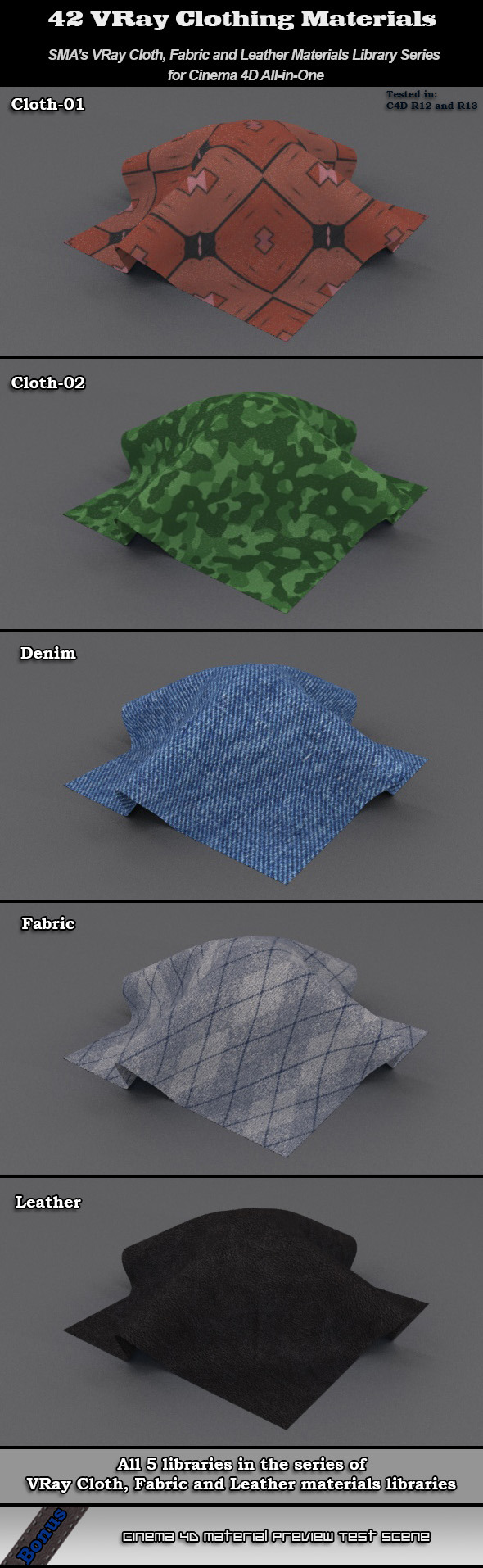 SMA's Vray Clothing Libraries AIO for Cinema 4D - 3DOcean Item for Sale