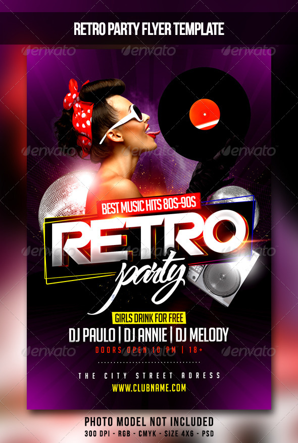 Retro Party Flyer By Maksn | Graphicriver