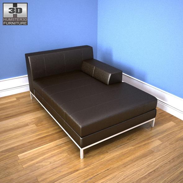 IKEA KRAMFORS right-handed sofa - 3D Model.
