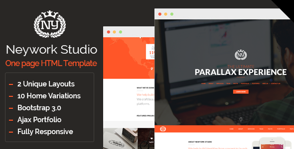 Newyork Studio – Multipurpose Parallax Template