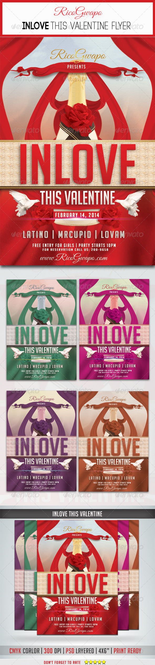 Inlove This Valentine Flyer Template - Flyers Print Templates