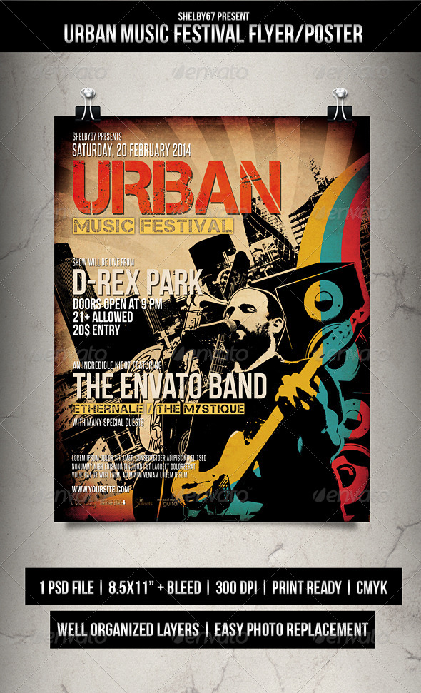 Urban Music Festival Flyer / Poster - Events Flyers
