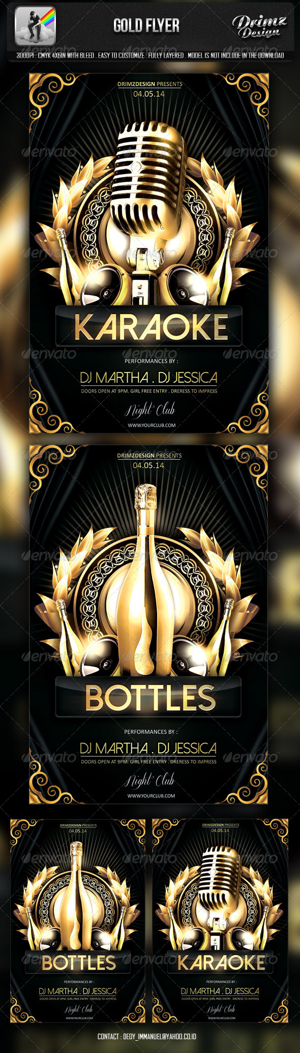 Gold Flyer - Events Flyers