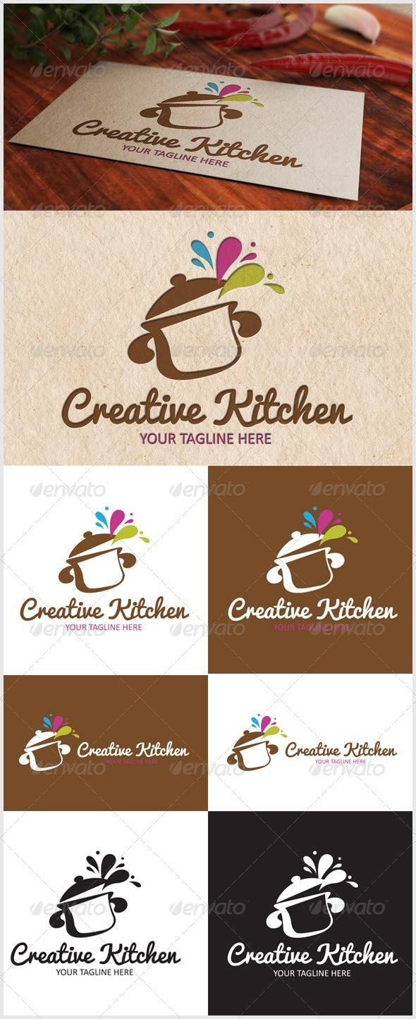 Creative Kitchen Logo - Logo Templates