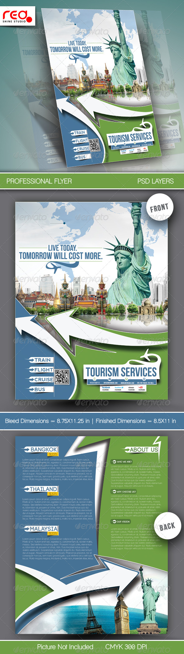 Travel Tours Flyer Template - Commerce Flyers
