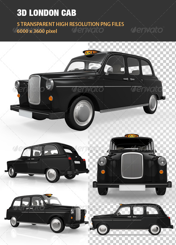 3D London Cab - Objects 3D Renders