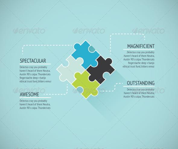 Puzzle Piece Background - Concepts Business