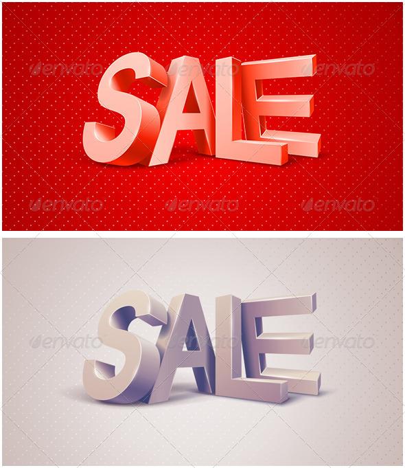 Sale 3D Text Message - Commercial / Shopping Conceptual