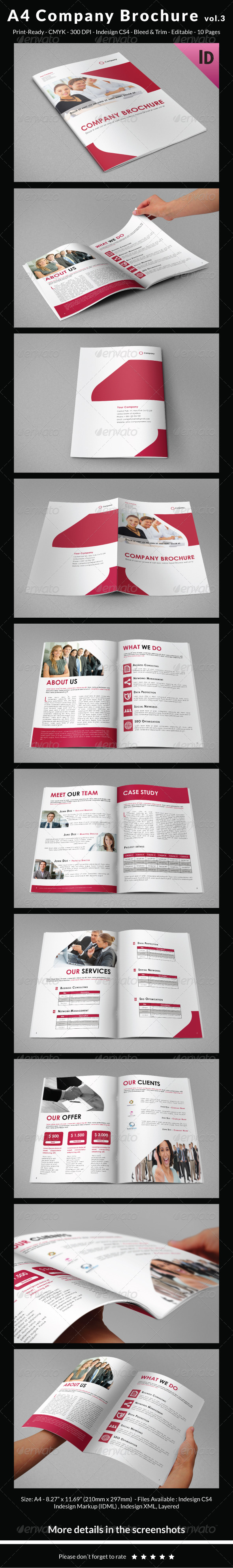 A4 Company Brochure vol.3 - Corporate Brochures