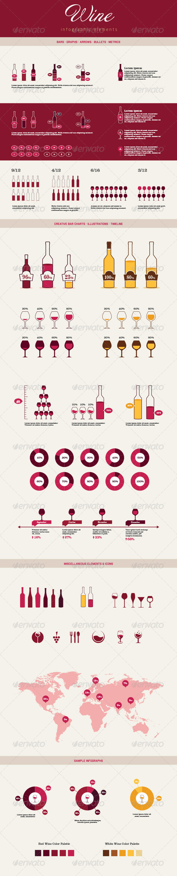 Infographic Elements - Wine - Infographics