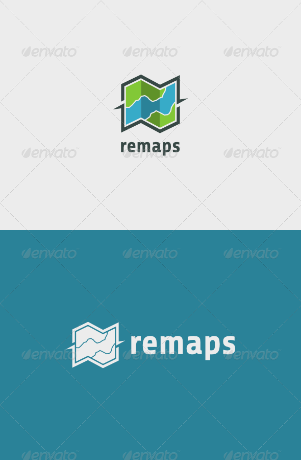 Maps Logo - Objects Logo Templates