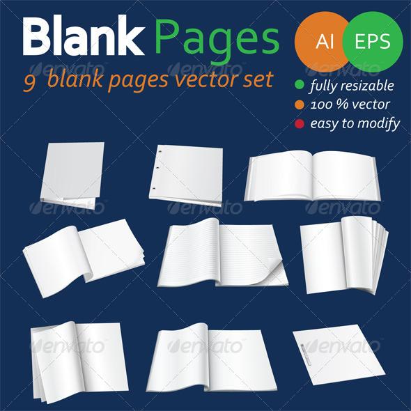 Blank Pages  - Decorative Vectors
