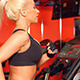 Beautiful Girl Running on Track at The Gym - VideoHive Item for Sale