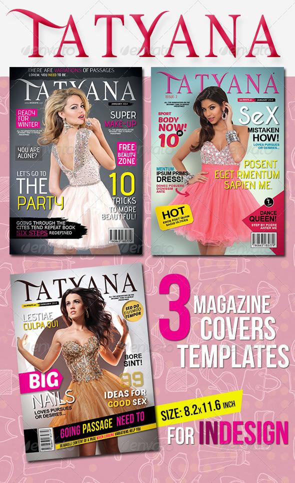 3 Magazine Covers - Magazines Print Templates