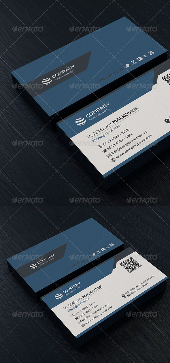 Clean Business Card Vol. 02 - Corporate Business Cards