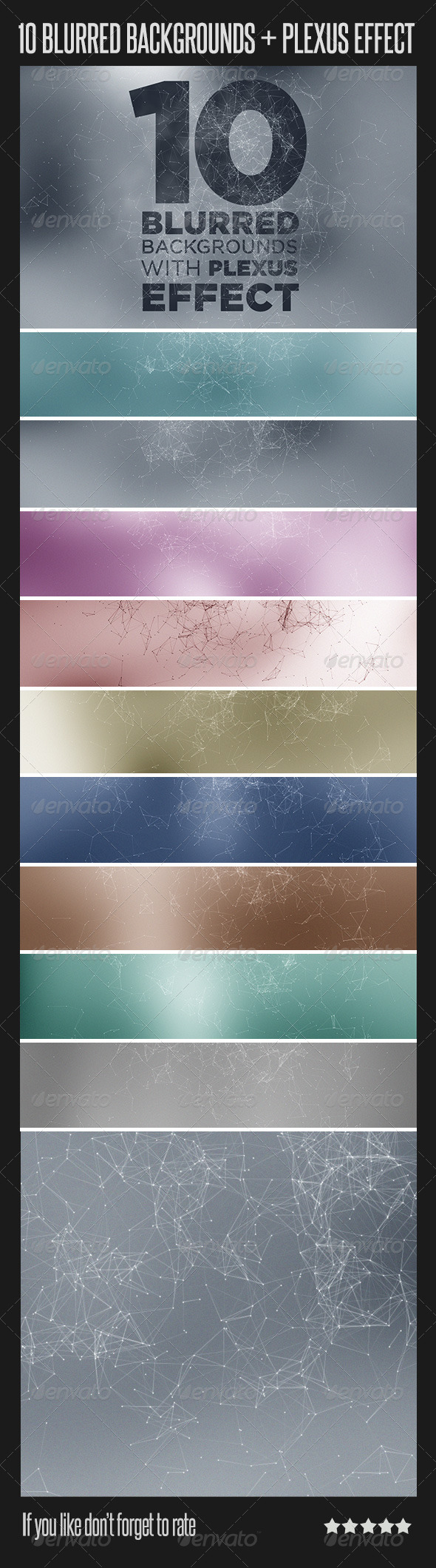 10 Blurred Backgrounds with Plexus Effect - Backgrounds Decorative