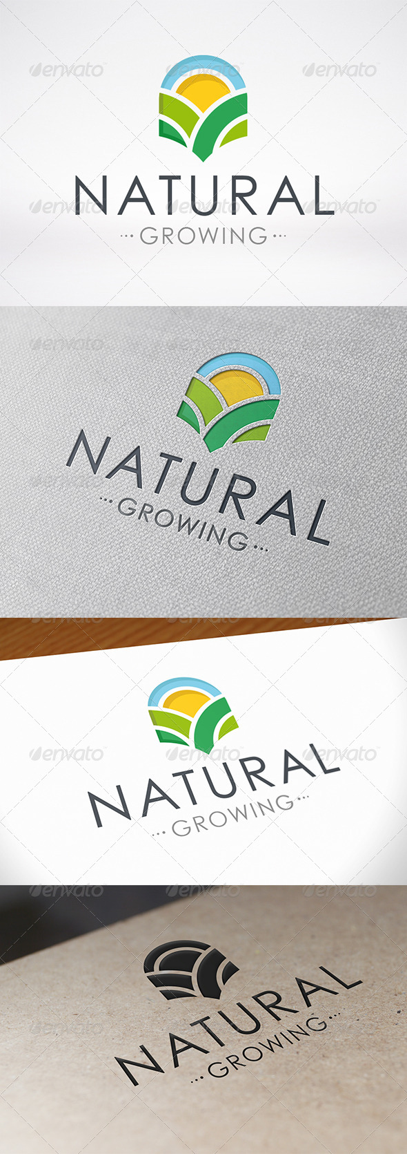 Natural Growing Logo Template - Nature Logo Templates