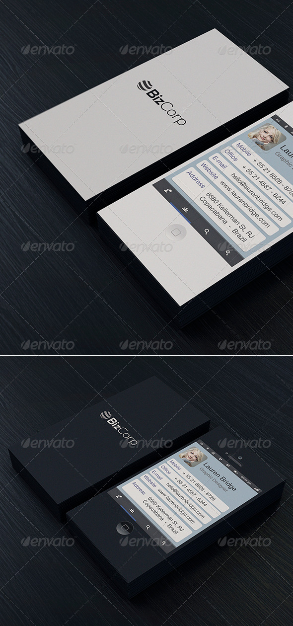 Iphone Business Card Vol. 01 - Real Objects Business Cards