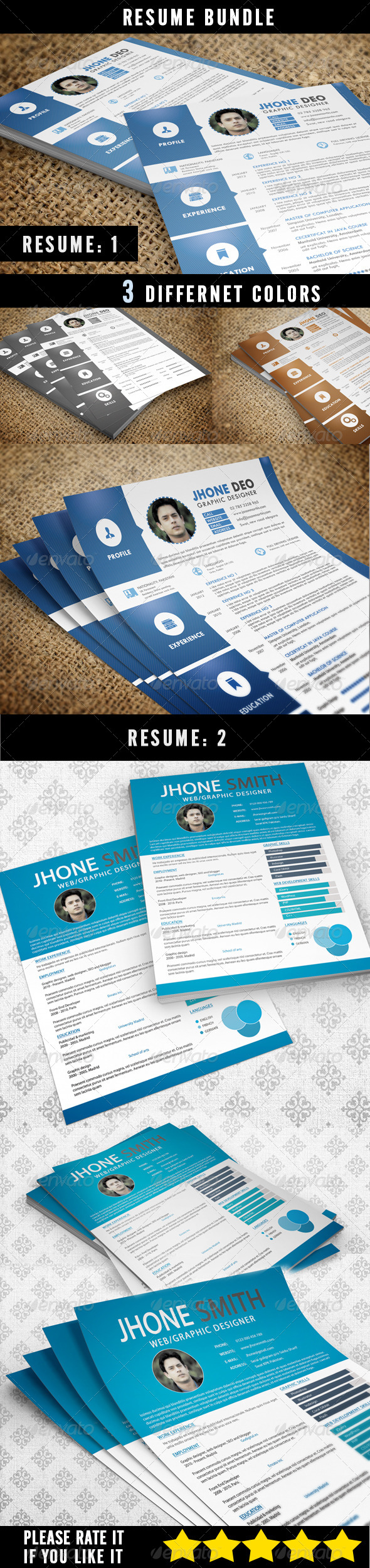 Resume Bundle (2 in 1) - Resumes Stationery