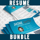 Resume Bundle (2 in 1) - GraphicRiver Item for Sale