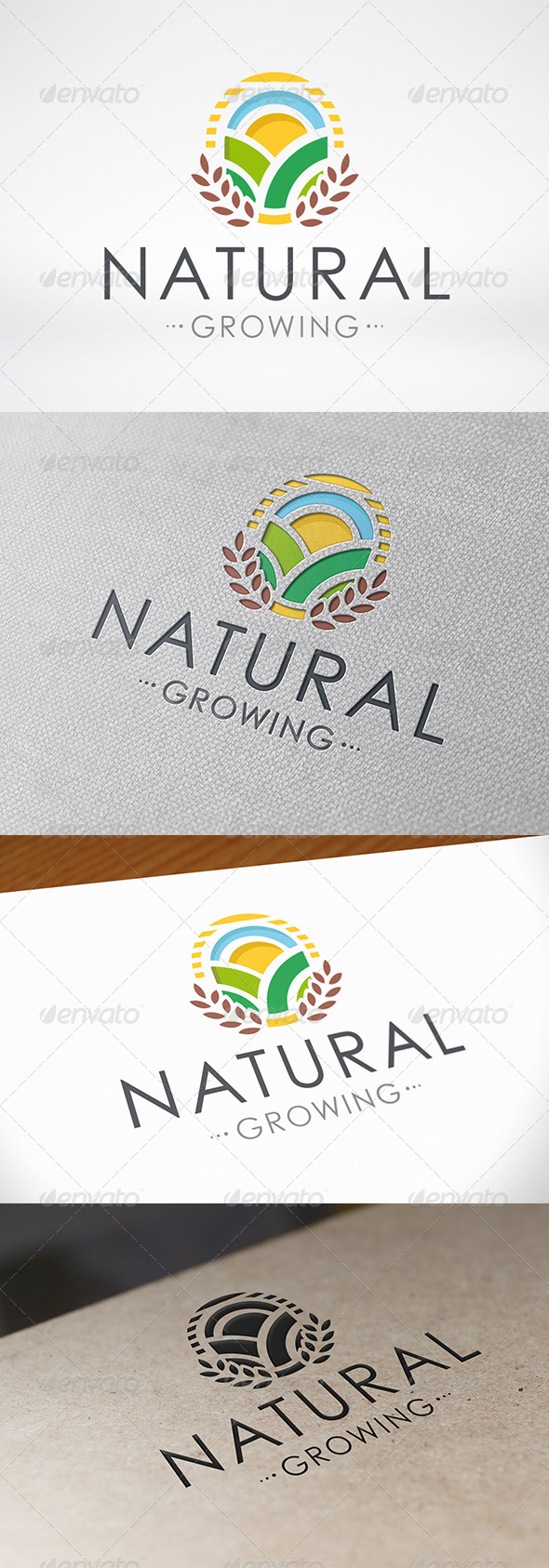Natural Growing Logo - Crests Logo Templates