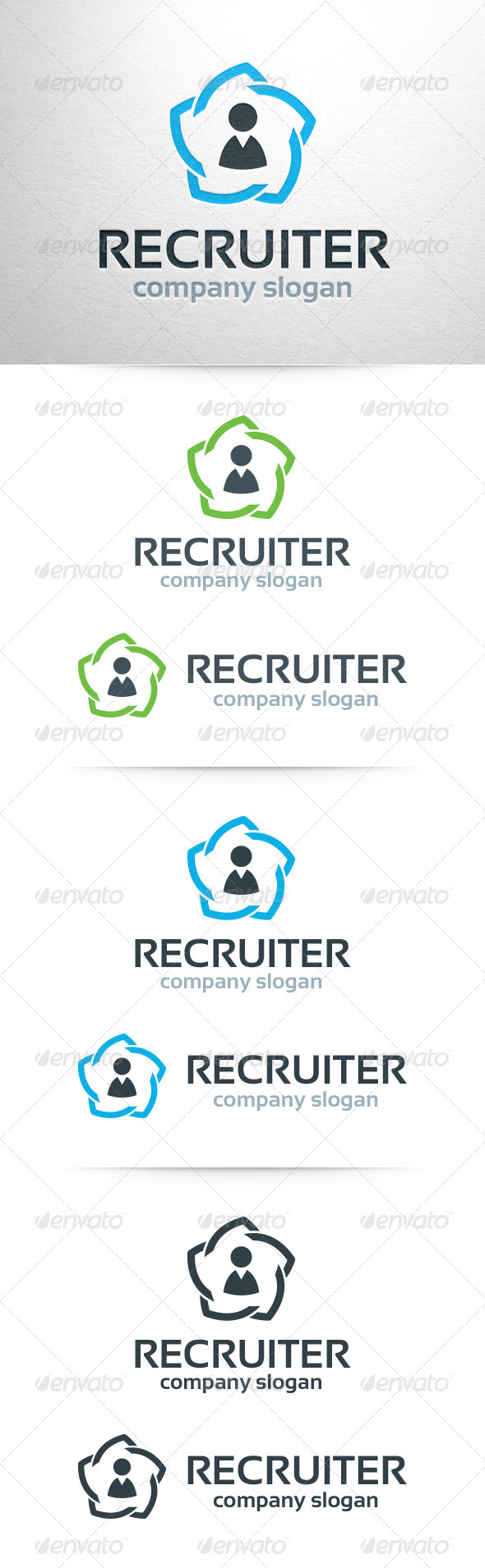 Recruiter Logo Template - Humans Logo Templates