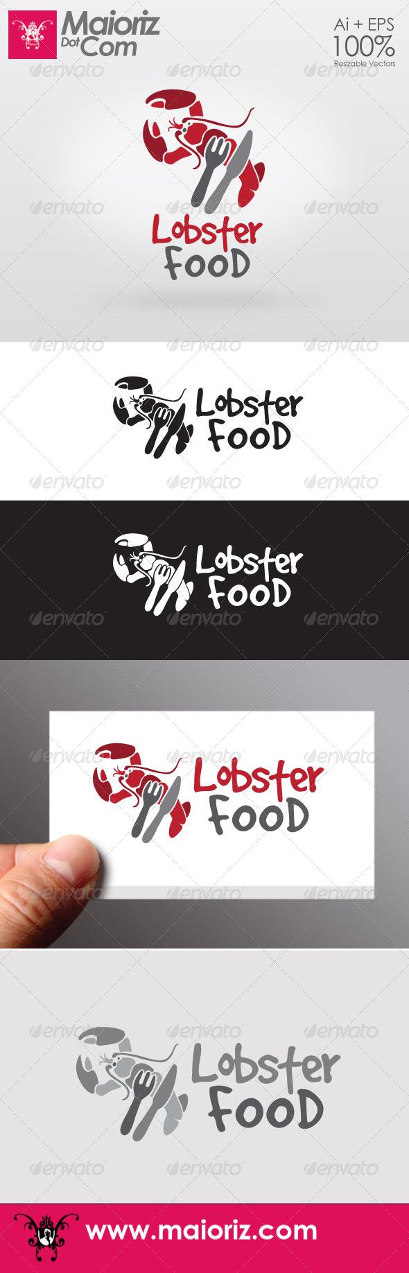 Lobster Food Logo - Food Logo Templates