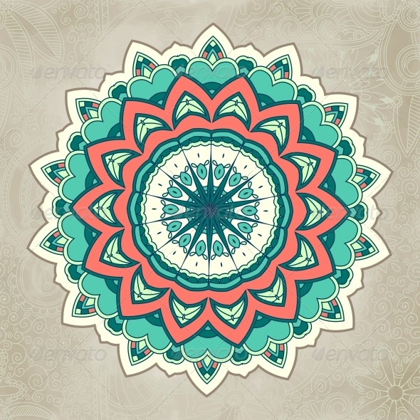 Ornamental Lace Pattern Circle - Decorative Symbols Decorative