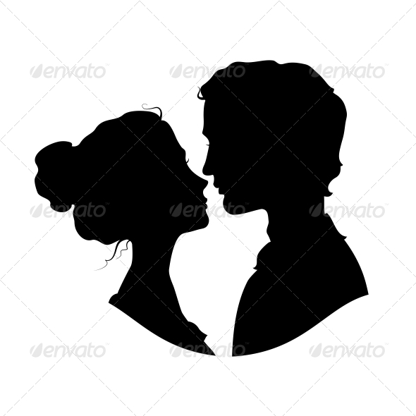Silhouettes of Loving Couple - Weddings Seasons/Holidays