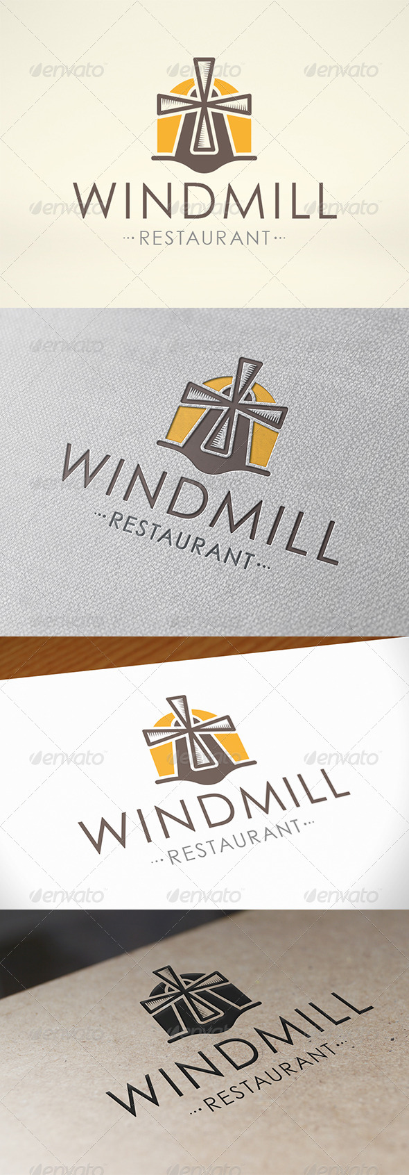 Mill Logo Template - Buildings Logo Templates