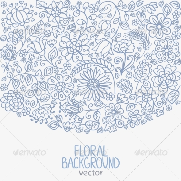 Floral Background - Decorative Symbols Decorative