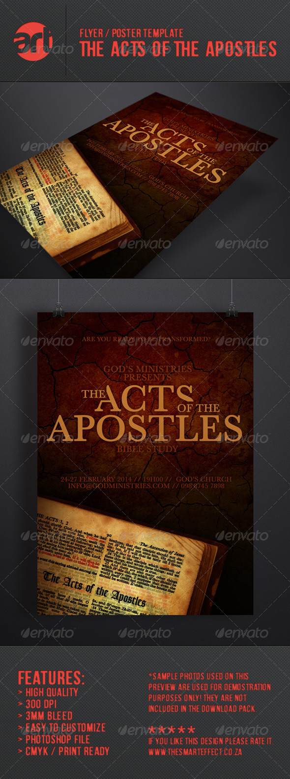 The Acts of the Apostles Flyer/Poster - Church Flyers