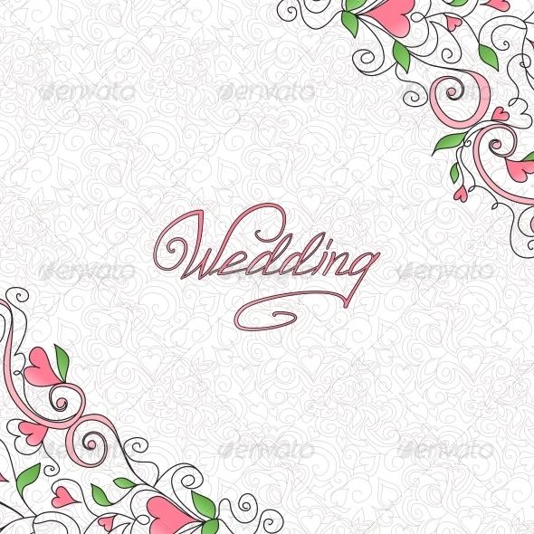 Wedding Card - Patterns Decorative