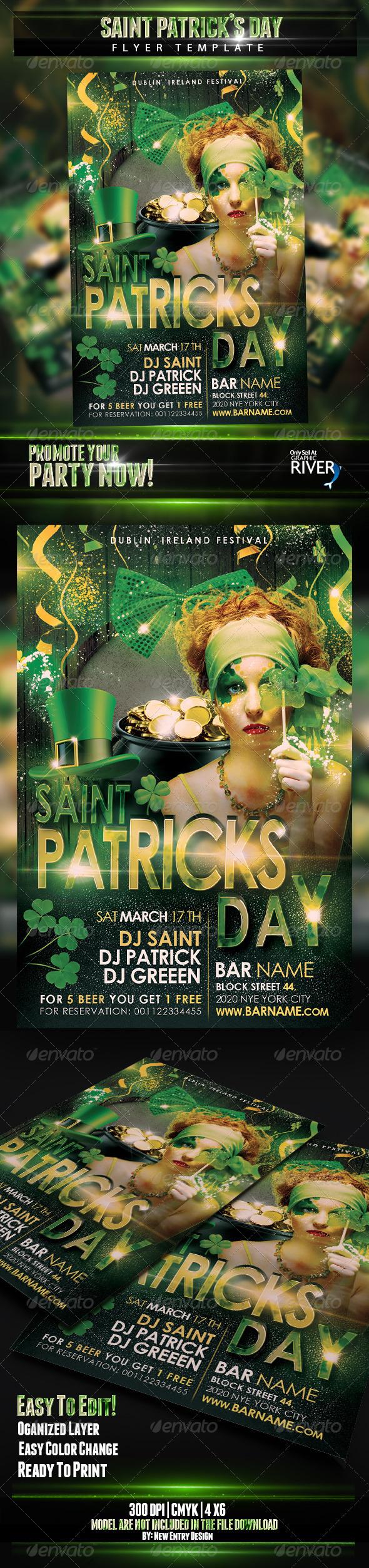 Saint Patricks Flyer Template - Events Flyers