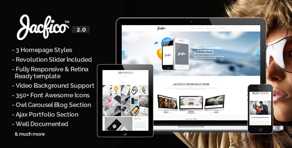 Jacfico – Responsive Onepage Parallex Template