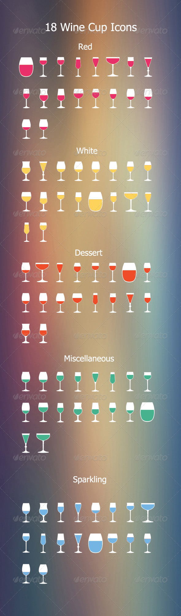18 Wine Cups Icon - Icons