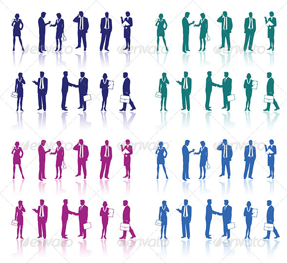 Business People Silhouettes  - People Characters