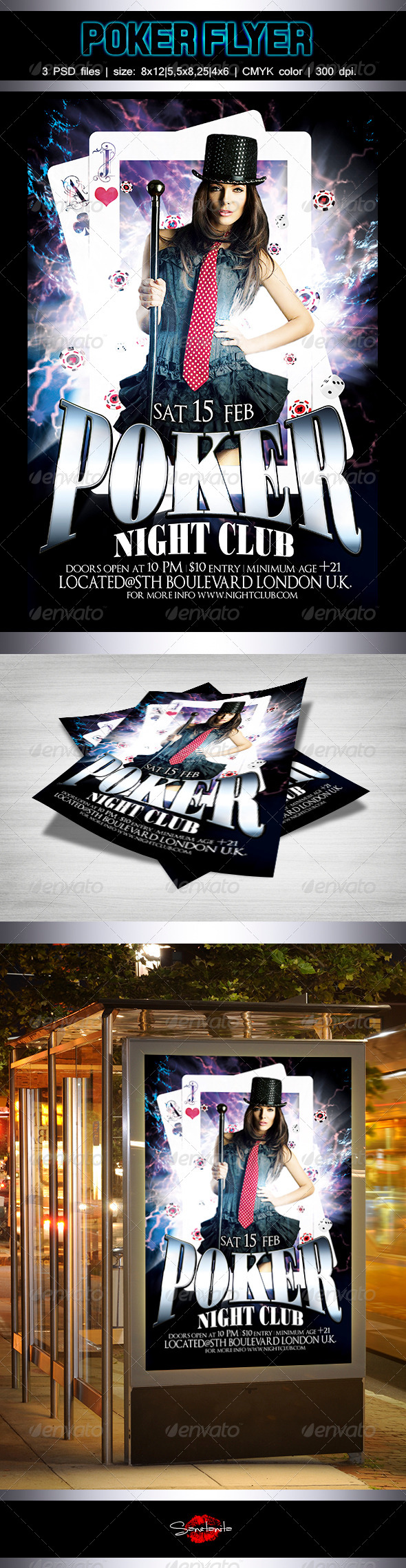 Poker Flyer Template - Miscellaneous Events