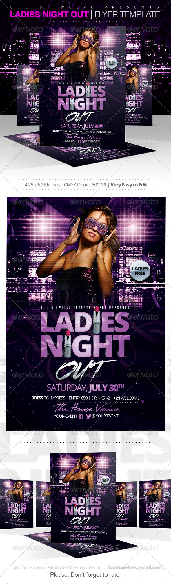 Ladies Night Out | Flyer Template - Clubs & Parties Events