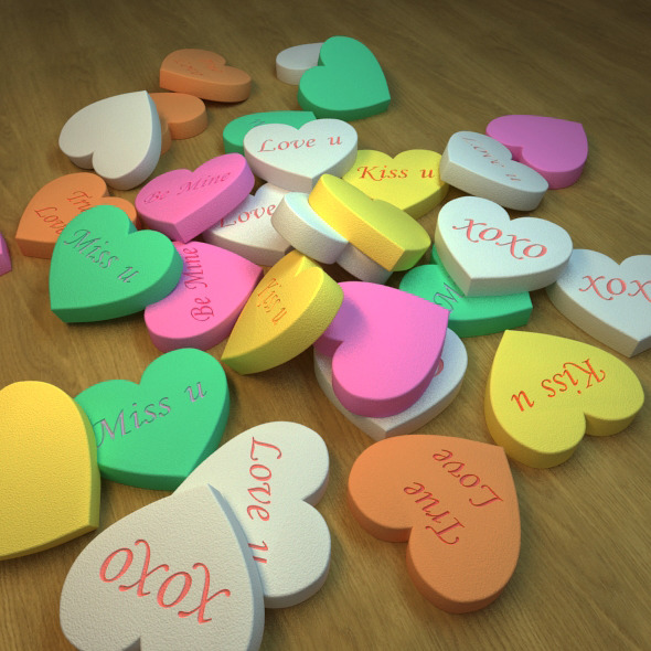 Valentine Hearts Tablets - 3DOcean Item for Sale