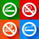 Set 25 stickers. No Smoking and Smoking Area Symbols - GraphicRiver Item for Sale