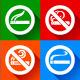 Set 25 stickers. No Smoking and Smoking Area Symbols - GraphicRiver Item for Sale