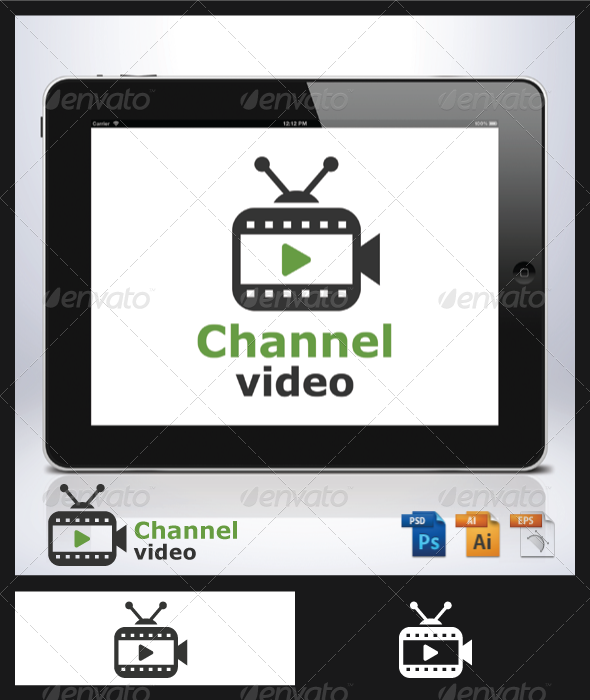 Channel Video Logo - Objects Logo Templates