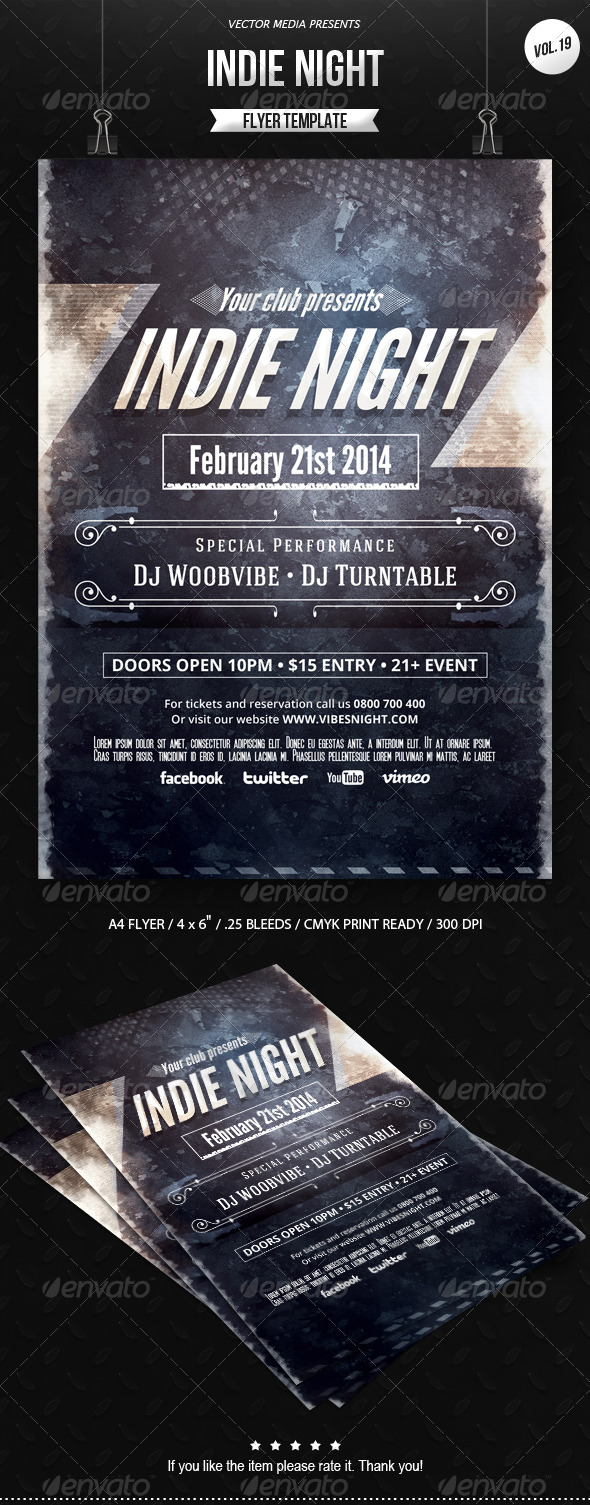 Indie Night - Flyer [Vol.19] - Clubs & Parties Events